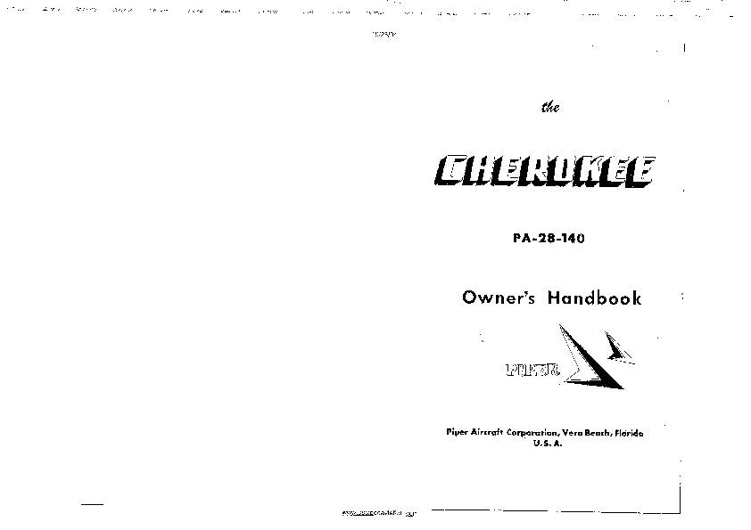 Pa 28 Owner's manual piper pa 28 140 owners manual pdf